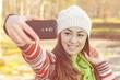 Girl Taking Selfie Outdoor
