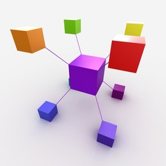 Colorful cubes 3D