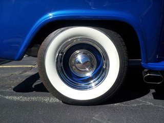 Vintage Pickup Wheel and Fender