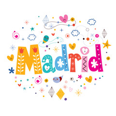 Madrid typography lettering design
