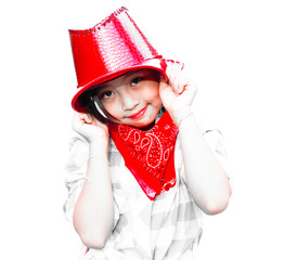 Portrait of  girl wearing a hat and smiling