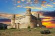 Leinwandbild Motiv Old Castle in Span - Manzanares