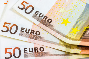 some fifty euro banknotes