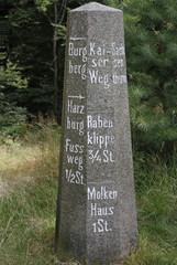Historischer Wegweiser, Antoniusplatz, Bad Harzburg