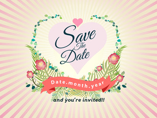 wedding design invitation card vector illustration