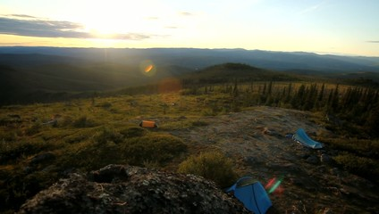 Alaska Forrest Campsite