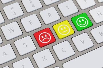 Bewertung mit Emotion am Computer