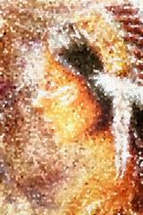 Indian woman spirit vision fractal