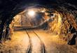 Mine gold underground tunnel railroad - 76650869