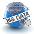 Leinwandbild Motiv Big data with digital globe, 3d render