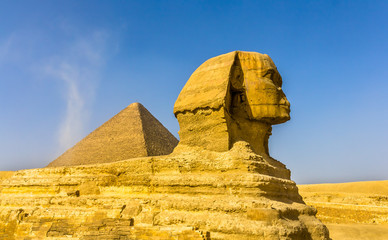 The Great Sphinx and the Great Pyramid of Giza