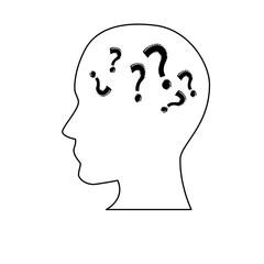 White silhouette symbolizing Confusion