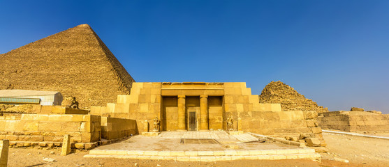 The entrance of the mastaba of Seshemnufer IV in Giza - Egypt