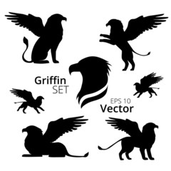 Griffin set, vector, eps 10