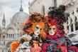 Leinwanddruck Bild - Carneval mask in Venice - Venetian Costume