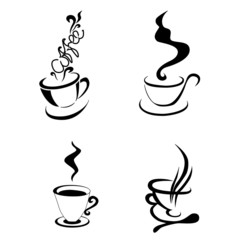 coffee cup shape. vector illustration