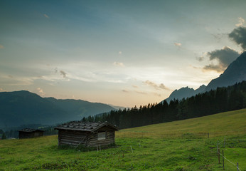 Evening View in the Alps