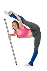 Fitness woman splits