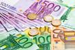 Leinwanddruck Bild - Euro