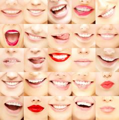Set of female lips
