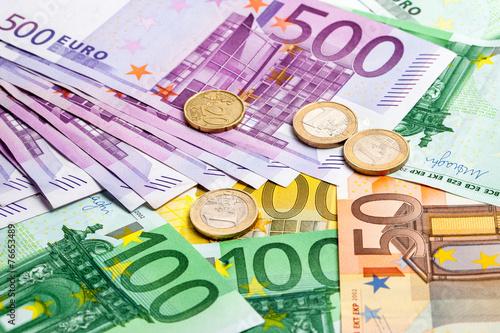 Leinwanddruck Bild Euro