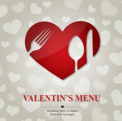 Valentine's menu