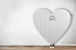 Leinwanddruck Bild - Heizkörper in form von Herz