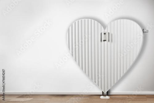 Leinwanddruck Bild Heizkörper in form von Herz