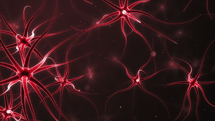 Computer generated neurons forming a neural network