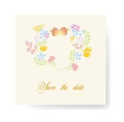 Цветок вектор баннер для свадьбы приглашения