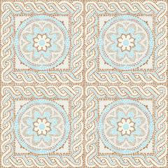 Seamless texture multicolored mosaics