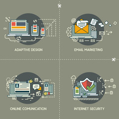 E-marketing, adaptive design, comunication, internet security