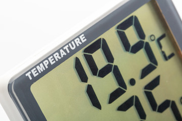 Electronic thermometer closeup