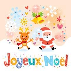 Joyeux Noel - Merry Christmas in French greeting card