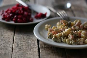 Салат, закуска, оливье