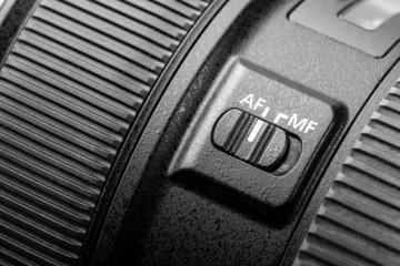 Close up of modern camera