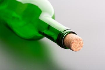 Glass bottle close up