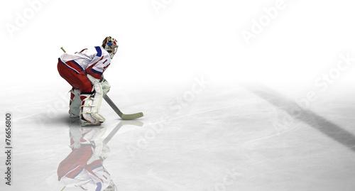 Leinwanddruck Bild Eishockey Spiel