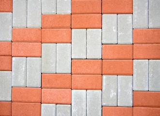 colored paving  closeup
