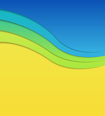 Colorful wavy background.