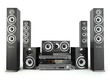 Home cinema speaker system. Loudspeakers, player and receiver. - 76657635