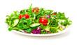 Leinwanddruck Bild - Frischer Salat, Salatteller, isoliert