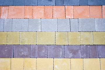 Image of colored pavement as background