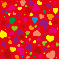 Abstract seamless background with Valentine's Day pattern