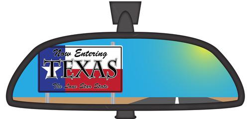 Texas In Chunky Rear View Mirror