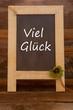 canvas print picture - Viel Glück