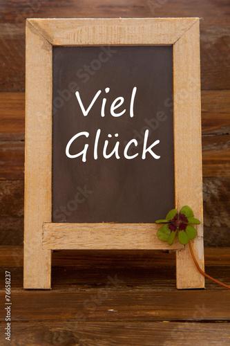 canvas print picture Viel Glück