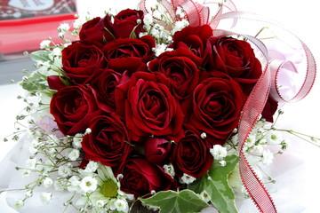 薔薇 ハート型 花束