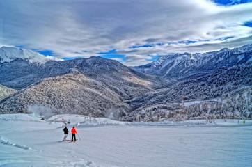 Downhill skiing resort