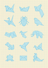 Pack of Origami Icons
